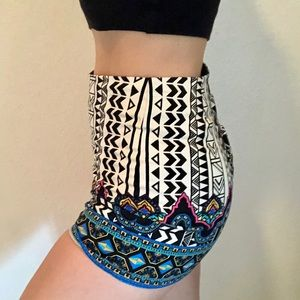 Altar'd State Colorful High Waisted shorts